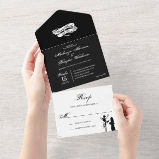 Simply Meant To Be - Wedding All In One Invitation