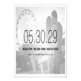 Simply Timeless Save The Date Photo Magnet Card