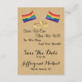 Since We Can:  Gay Wedding Save The Date Cards