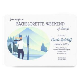 Ski Theme Bachelorette Party Invitations