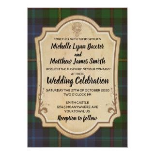 Smith Tartan Wedding Invitation