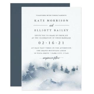 Snowbound | Winter Watercolor Wedding Invitation