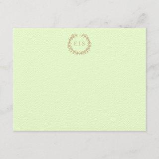Soft Pale Celery Green Pastel Wreath and Sprig