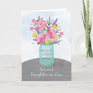 Son and Daughter-in-Law Anniversary Blessings Card