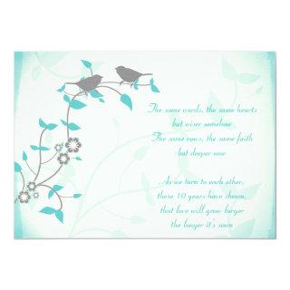 Song Birds Wedding Anniversary Vow Renewal Invitation