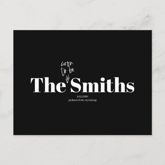 Soon to Be Smiths Photo Save the Date Announcement Postcard