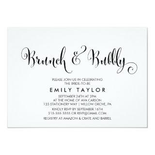 Southern Belle Calligraphy Brunch & Bubbly Invitation