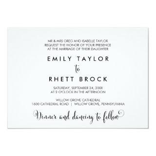 Southern Belle Calligraphy Formal Wedding Invitations