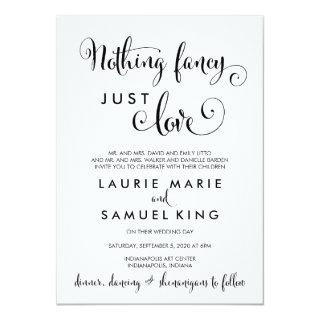Southern Calligraphy Nothing Fancy Just Love Funny Invitation