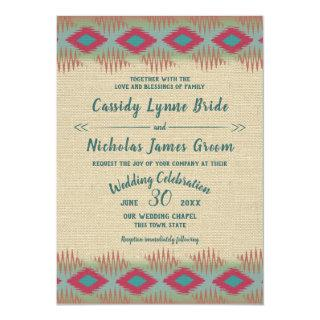 Southwest Pattern Wedding Invitations