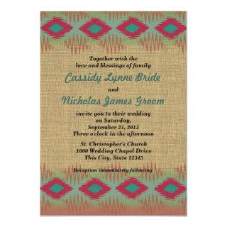 Southwest Pattern Wedding Invitation