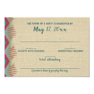 Southwest Pattern Wedding Response Card