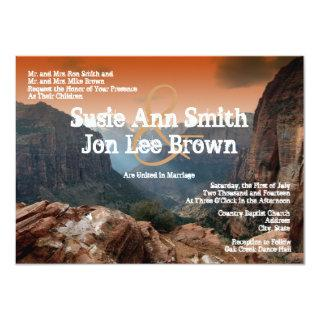 Southwestern Zion Canyon Wedding Invitations