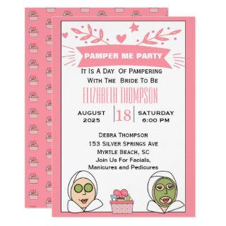 Spa Party For Bride To Be Invitations