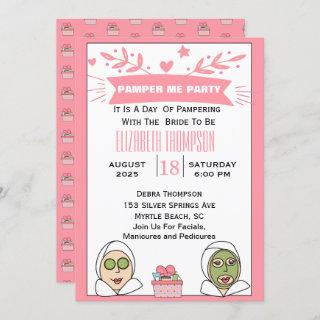 Spa Party For Bride To Be Invitation