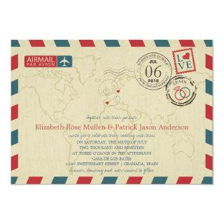 Spain and Poland Airmail | Wedding Invitations