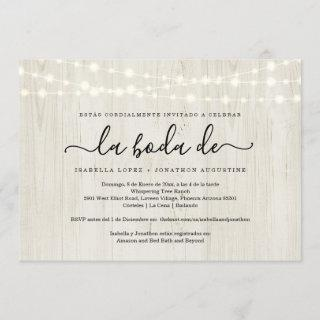 Spanish Wedding Invite All in One w- RSVP Registry