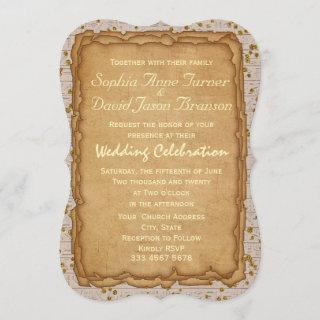 Sparkle Papyrus Ancient Wedding Invitation