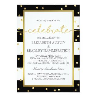 Sparkling Stripes | Engagement Party Invitations