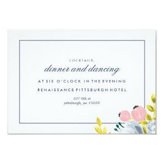 SPRING BLOOM FLORAL reception card