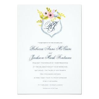 Spring Bloom Watercolor Floral Wedding Invitations