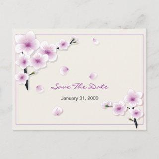Spring Blossom Save the Date Wedding Announcement