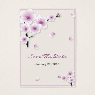 Spring Blossom Save The Date Wedding MiniCard