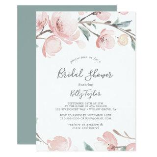 Spring Cherry Blossom Bridal Shower Invitations