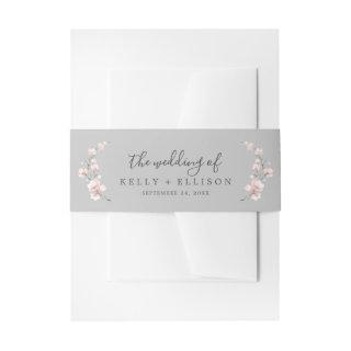 Spring Cherry Blossom | Gray The Wedding Of Invitation Belly Band