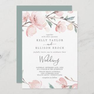 Spring Cherry Blossom Wedding Invitations