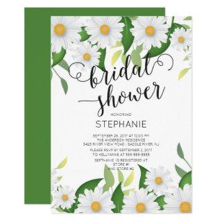 Spring Daisy Flowers Bridal Shower Invitation