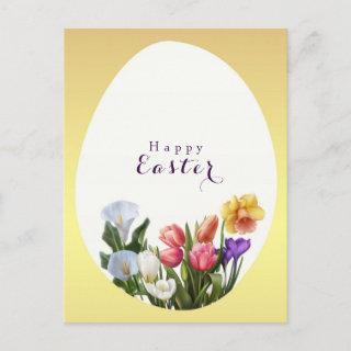 Spring Floral Easter Egg Elegant Save the Date Announcement Postcard