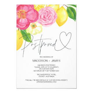 Spring Floral Wedding Postponed Change the Date Invitations