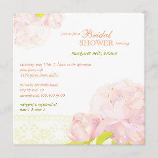 Spring Watercolor Peony Bridal Shower