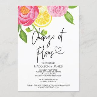Spring Wedding Postponed Notes Change of Plans Invitations