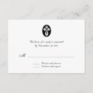 St. Olga Cross - Wedding Reply / RSVP Cards
