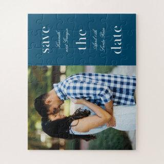 Stacked Wording Save the Date Engagement Puzzle