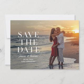 Stamped Serif Wording Save The Date
