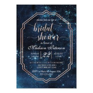 Star Sky Celestial Galaxy Bridal Shower Invitations