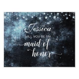 Star Struck Celestial Will You Be My Maid of Honor Invitations
