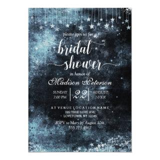 Star Struck Watercolor Bridal Shower Invitations