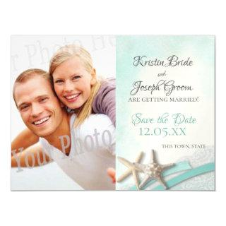 Starfish and Lace Beach Starfish Save the Date Magnetic Invitations