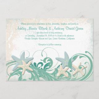 Starfish Beach or Destination Wedding Invitation