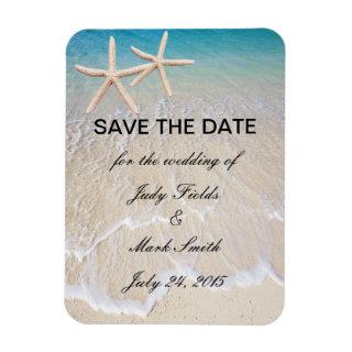 Starfish Beach Wedding Save The Date Magnet