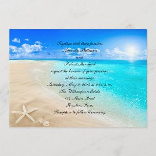 Starfish Destination Beach Wedding Invitations