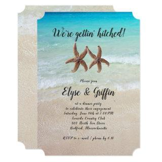 Starfish Engaged Couple Inviting Party Invitation