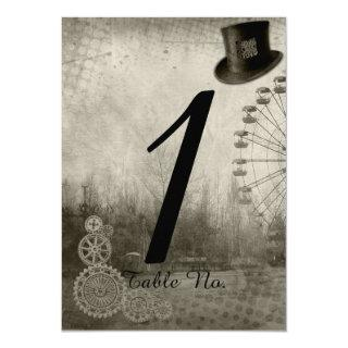 Steampunk Carnival Top Hat Wedding Table Number