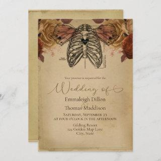Steampunk Gothic Science Fiction Floral Wedding