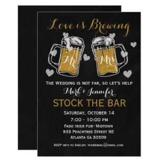 Stock the Bar Bridal Shower Invitation Couples