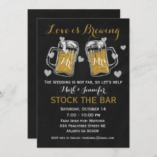 Stock the Bar Bridal Shower  Couples